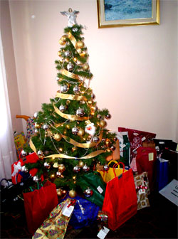Las fiestas tipicas de catalu a badusia - Arbol de navidad con regalos ...